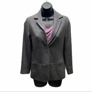 Club Monico Grey Button Up Blazer Woman's Size 2